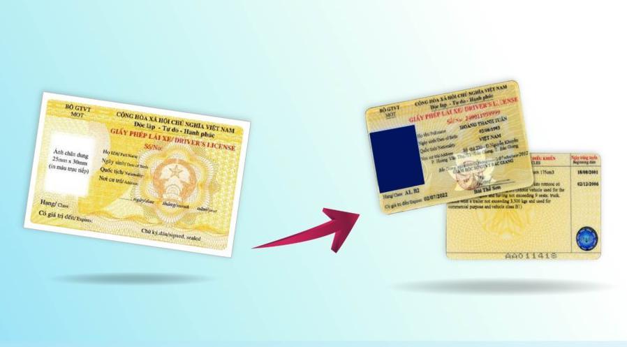 loại giấy tờ cần chuyển bị khi đổi bằng lái xe máy