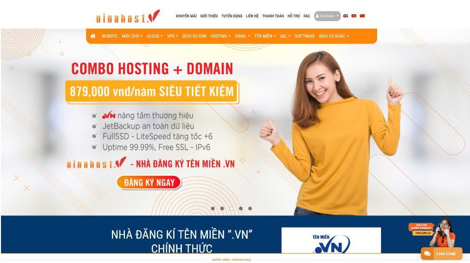 Nhà cung cấp hosting Vinahost