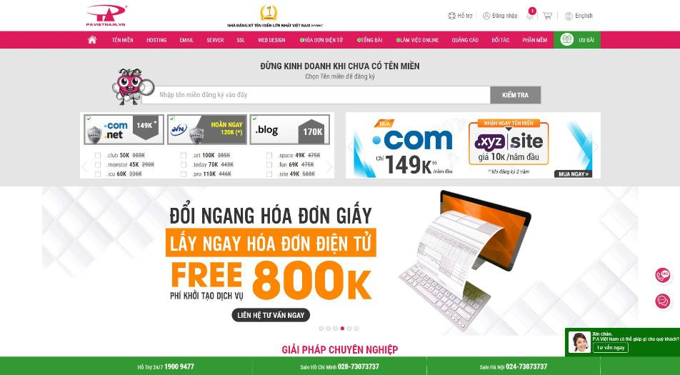 Nhà cung cấp hosting PA Việt Nam