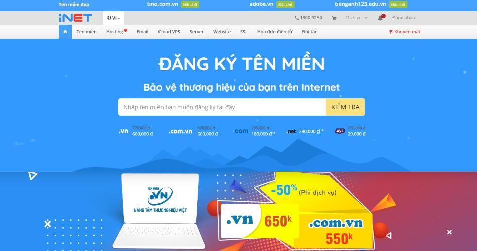 Nhà cung cấp hosting Việt Nam Inet
