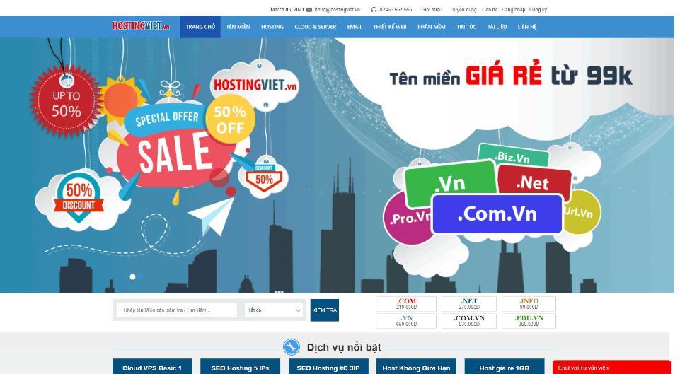 Nhà cung cấp web hosting Việt