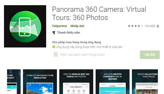 Ứng dụng chụp ảnh xoay 360 độ - Panorama 360 Camera
